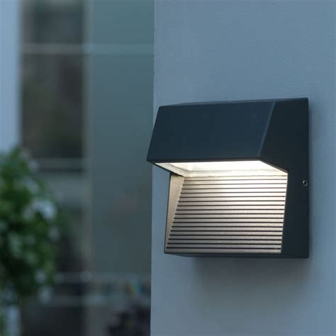 outdoor led lights lutec lighting radius sp sq square cree led wall light at