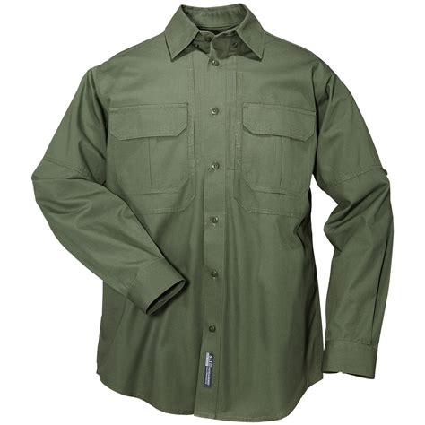 Murah Tactical T Shirt Green Olive Grey Cotton Combed 20s 5 11 Tactical Combat Security Patrol Mens Shirt