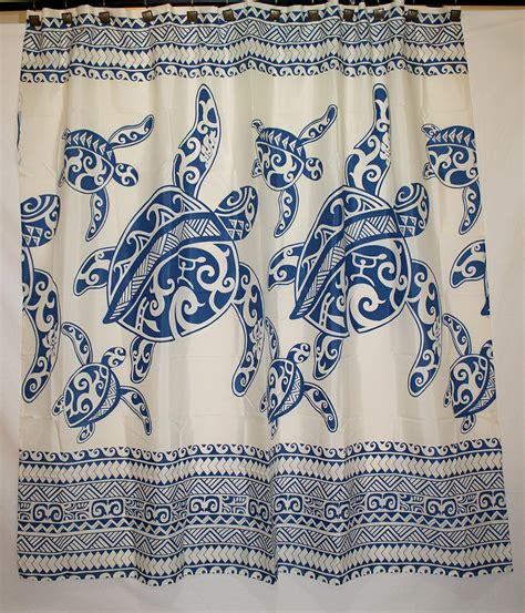 hawaiian print shower curtains blue sea turtle shower curtain hawaiian print shower curtain