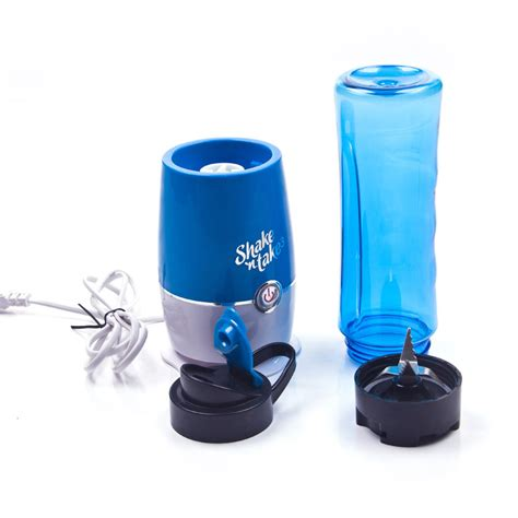 Blender Juice Buah blender buah dobule cup portable 2 in 1 500ml blue