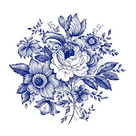 17 best ideas about blue flower tattoos on