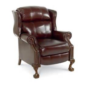 Upholstery Wilmington De Classic Wingback Leather Recliner With Ball And Claw Feet