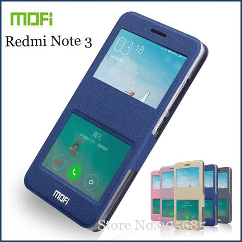 Leather Window For Xiaomi Redmi Note 3 Note 3 Pro Golden Y2338 mofi for xiaomi redmi note 3 hongmi note3 open window flip pu leather stand