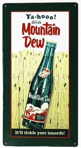 yahoo drink mountain dew metal sign soda cola pop coke
