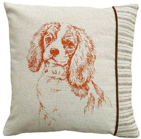 Charles Pillow by Screen Printed 100 Linen Pillow Cavalier King
