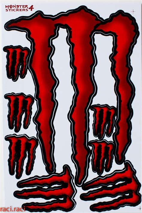 Monster Energy Aufkleber Pink by Red Monster Energy Sticker Decal Supercross Motocross By