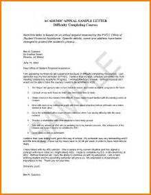 College Appeal Letter Ideas Exle Of A Readmission Letter Just B Cause