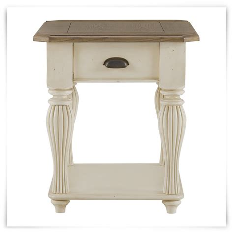 Two Tone End Table by City Furniture Coventry Two Tone Large End Table