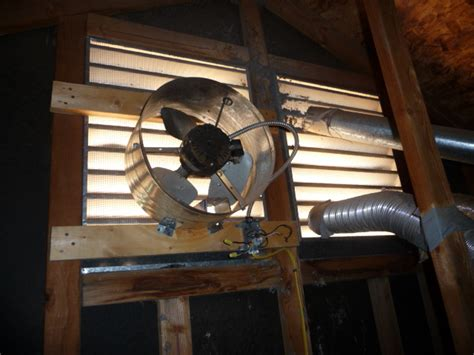 gable attic fan installation attic fan
