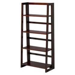collapsible bookcases linon dolce 4 shelf folding bookcase waln target
