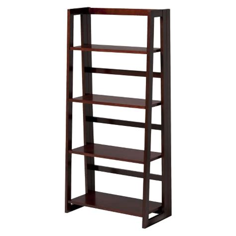 4 Shelf Folding Bookcase linon dolce 4 shelf folding bookcase waln target