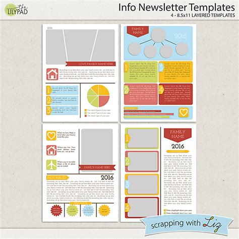 digital newsletter templates free digital scrapbook templates info newsletter scrapping