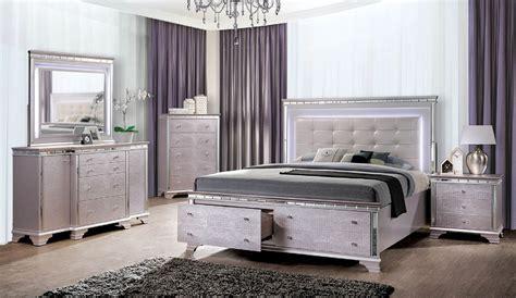 led bedroom furniture claudette modern led bed foa cm7972 usa furniture online