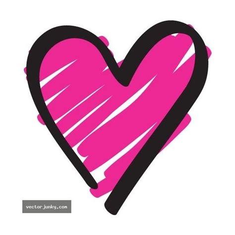 vector  heart doodle heart doodle