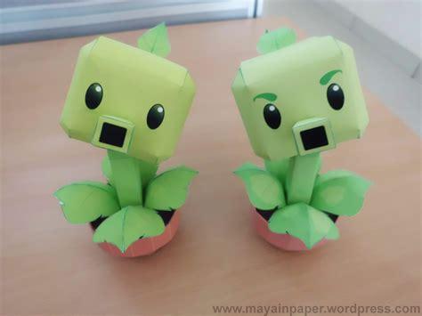 plants vs zombies paper crafts gatling pea paper crafts