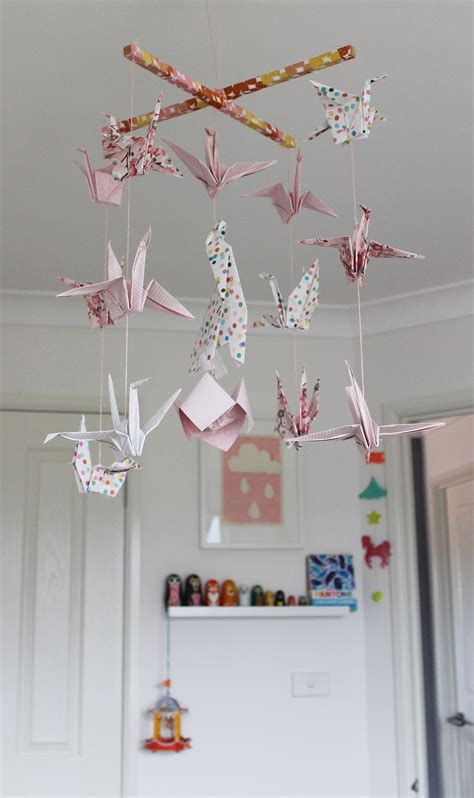 How To Make Paper Mobile - diy gt origami crane mobile