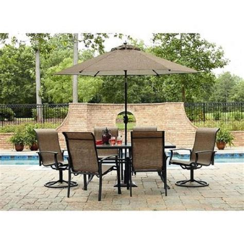7 Pc Outdoor Patio Dining Set Table Chairs Seat Lawn Pool Patio 7 Dining Set