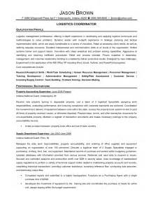Logistics Consultant Sle Resume by Senior Logistic Management Resume Logistics Coordinator 1 Resume