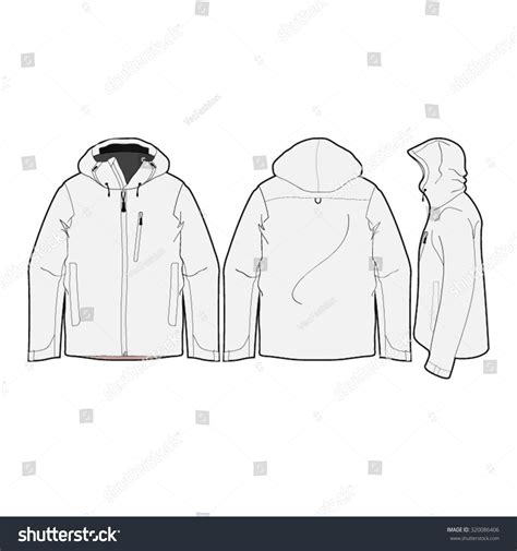 sports jacket template outdoor climbing jacket template stock vector 320086406