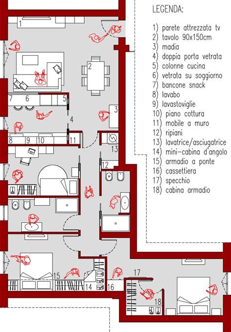 planimetria da letto progetto 100 mq architettura a domicilio 174