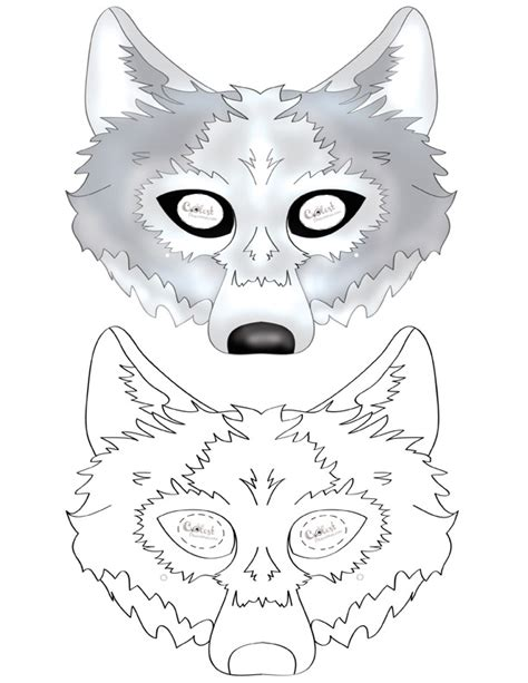 printable wolf mask black and white printable wolf mask coolest free printables school