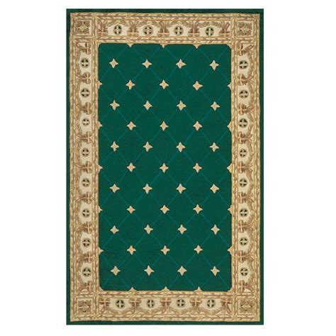 green accent rug home decorators collection windsor hunter green 9 ft x 12