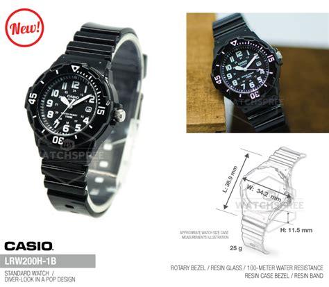 Casio Lrw 200h 1b Original Bergaransi Resmi 1 Tahun casio standard analog lrw200h 1b 4971850954415 ebay