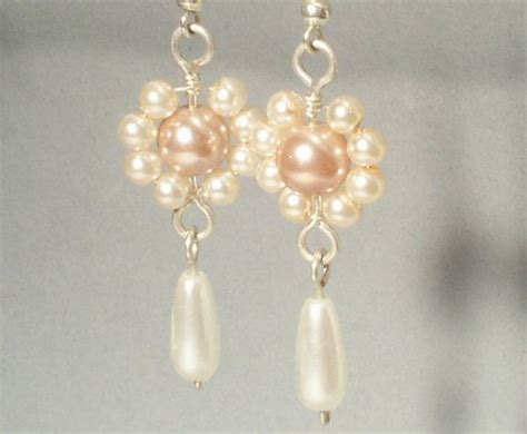 silver plated wire for jewelry beige flower earrings sterling silver plated wire wrapped
