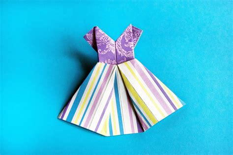 How To Make A Paper Dress Origami - how to make paper dress origami