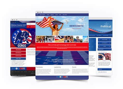 templates for voting website political caign website builder