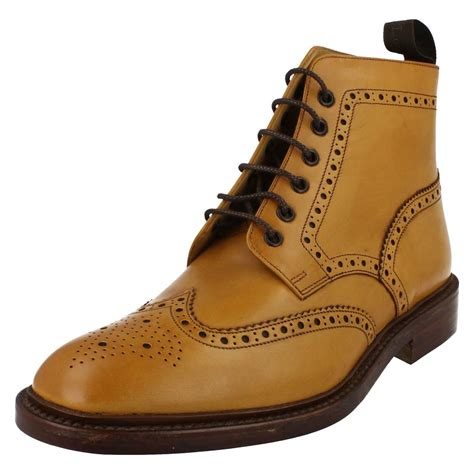 loake mens boots mens loake brogue ankle boots burford 2 ebay