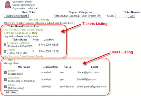 joomla help desk ticket system webamoeba helpdesk management