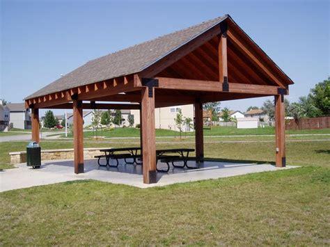 picnic shelter plans winwood park city  gardner