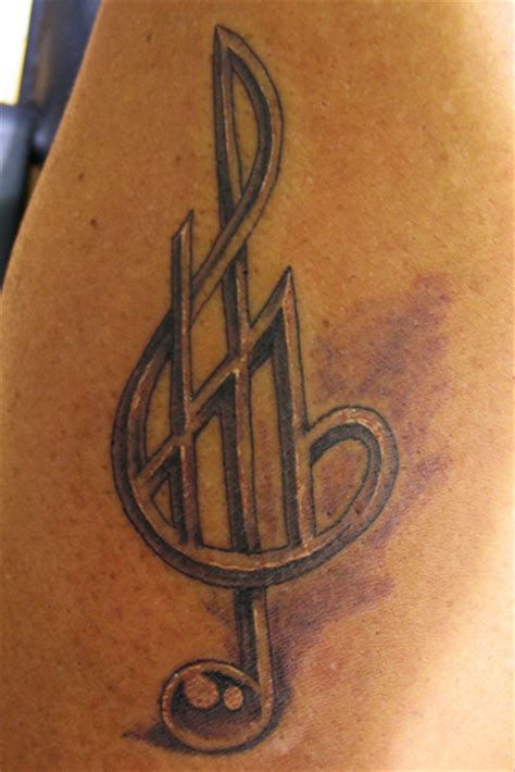 music symbol tattoo pin musical symbols tattoos on