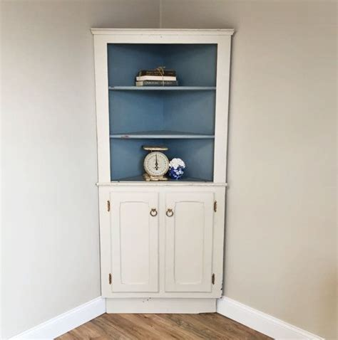white corner hutch farmhouse hutch corner cupboard