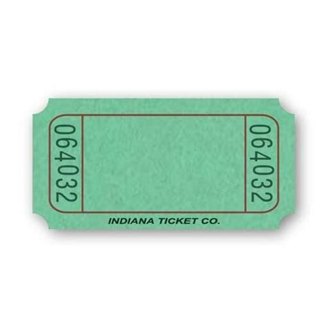 green blank ticket roll tickets wristbands amols