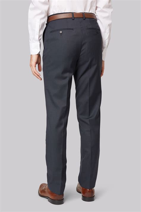 Connexion Flat Shoes Navy connection mens navy suit trousers slim fit flat