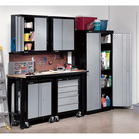 Garage Organizer Systems stack on cadet garage storage system 6 pc steel model