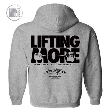 design gym hoodie lifting more powerlifting hoodie ironville clothing