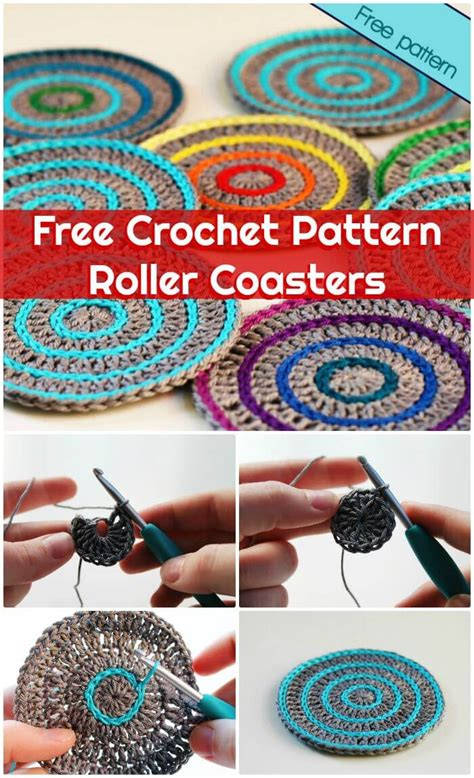 roller coaster pattern 70 easy free crochet coaster patterns for beginners page