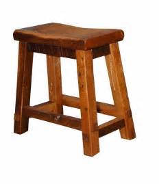 rustic reclaimed barn wood saddle seat bar stool amish