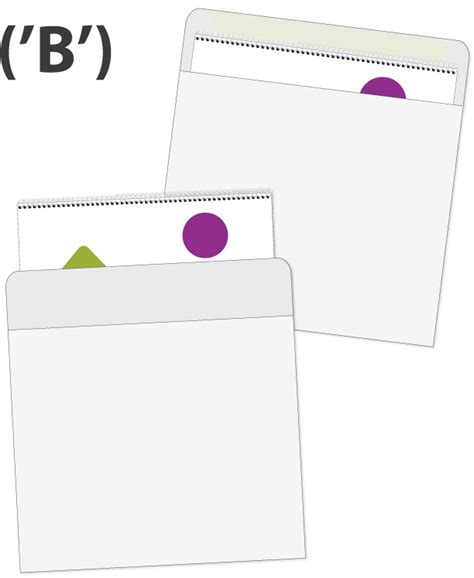 Calendar Envelopes Calendar Envelope Style B Black Imprint Inserted