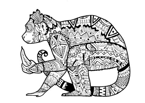 colouring book for adults get this monkey coloring pages for adults 39041