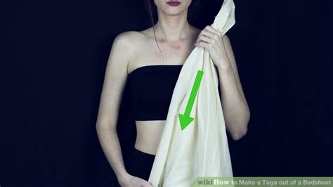 bed sheet toga 3 easy ways to make a toga out of a bedsheet wikihow