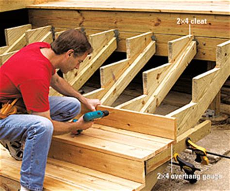 building deep  wide stairs multi level decks