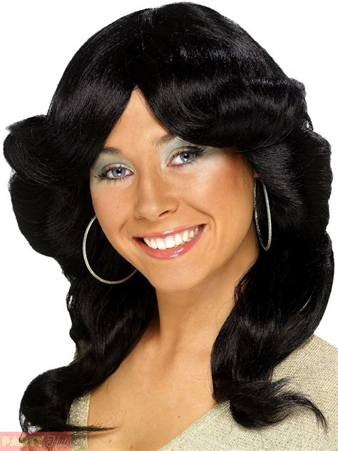 ladies hairstyles over farrah fawcett ladies 70s flick wig adults farrah fawcett charlie angels