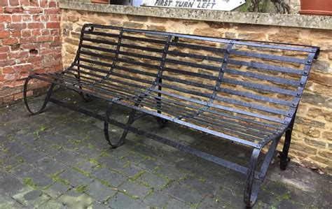 antique wrought iron garden bench antique victorian wrought iron garden bench 441377 sellingantiques co uk