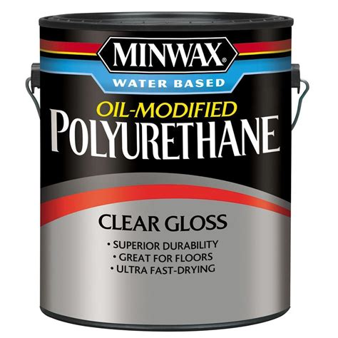rust oleum parks 1 gal clear satin water based - 1 Gal Clear Satin Water Based Polyurethane For Floors