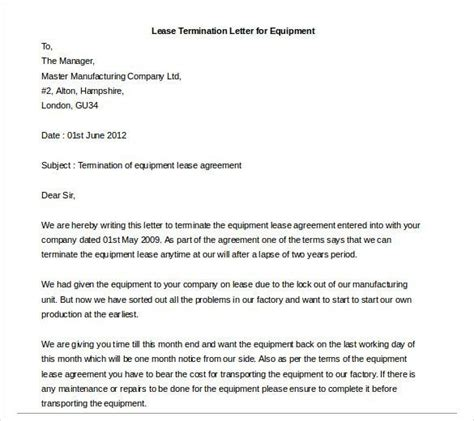 Landlord Lease Termination Letter Exle early lease termination letter http www valery