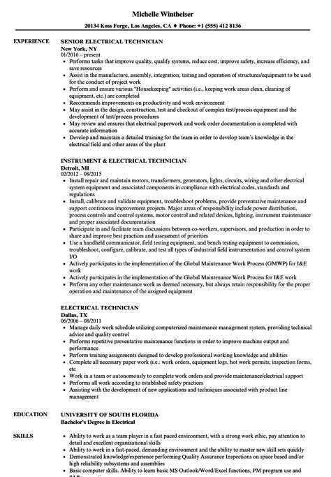 12 electrical technician resume example - radaircars.com